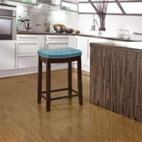 """Hawthorne Collection 24"""" Faux Leather Counter Stool in Blue"""
