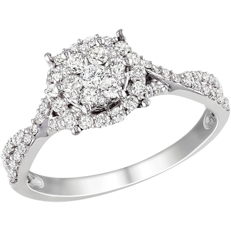 Miabella 1/2 Carat T.W. Diamond 10kt White Gold Engagement Ring