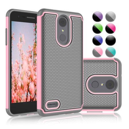 "Njjex Case For 5.0"" 2018 LG Phoenix 4 / LV3 / Aristo 2 Plus / Aristo 2 / Tribute Dynasty / Rebel 3 LTE / K8 / K8+ / Fortune 2 / Zone 4 / Risio 3 / X210, Shock Absorbing Rugged Grip Hard Case Cover"