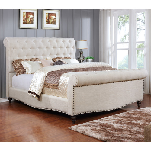 Best Quality Furniture Upholstered Sleigh Bed by