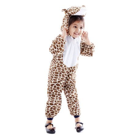 Spooktacular Kids' Safari Animal Halloween Costume Onepiece - Giraffe,L - Safari Animal Halloween Costume