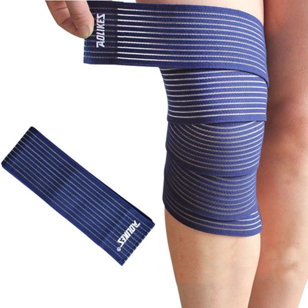 Elastic Knee Compression Bandage Wrap Breathable Knee Pain Relief