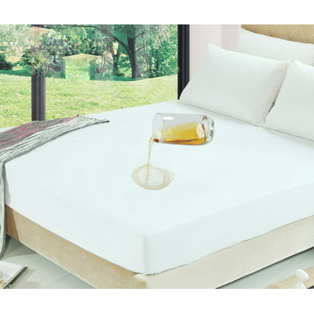 Vinyl Fitted Mattress Protector Waterproof Bed Bug Encasement Protector, KING