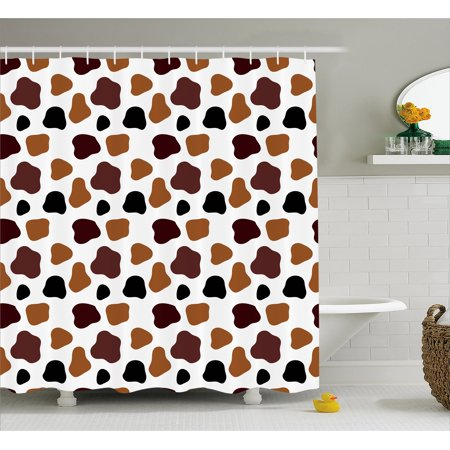 Cow Print Shower Curtain Skin Animal Abstract Spots Milk Dalmatian Barnyard Camouflage Dots