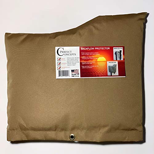 PRRFECT CONCEPTS Deluxe Backflow Cover, Brown