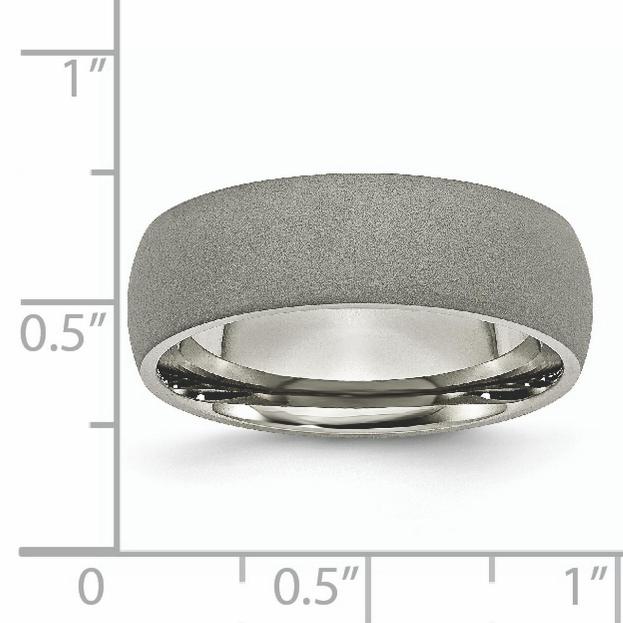 Titanium Stone Finish 7mm Wedding Ring Band Size 9.50 Classic Domed Fashion Jewelry Gifts For Women For Her - image 5 of 6