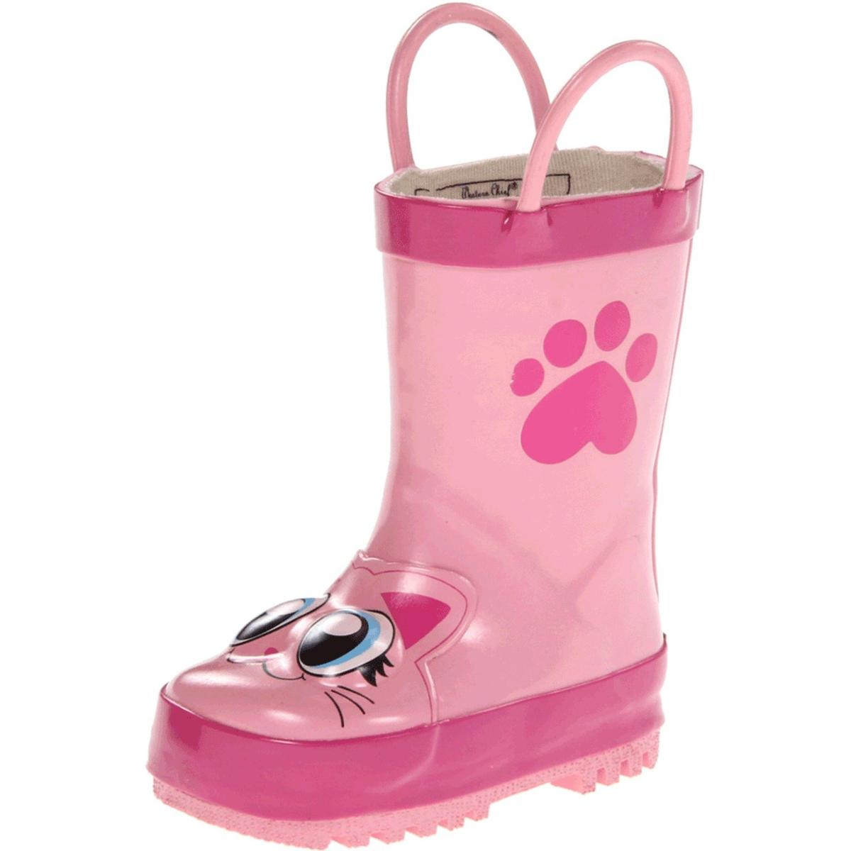 Image of Western Chief Pink Kitty Girls Pink Boots