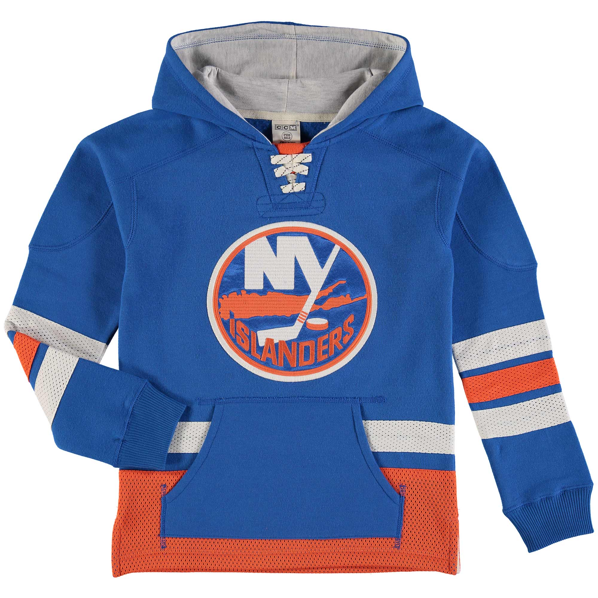 Youth Reebok Royal New York Islanders Retro Skate Hoodie by Outerstuff