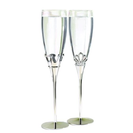 Best Wedding Accessories - King and Queen Champagne Toasting Flutes - Set of (Best Irish Wedding Toasts)