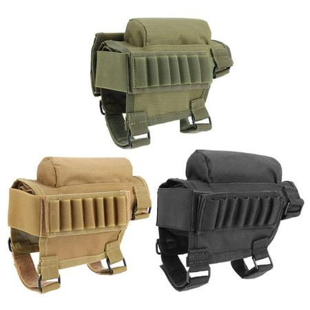 - WALFRONT 3 Colors Nylon Hunting Rifle Shotgun Buttstock Cheek Rest Pouch Rifle Cheek Pad, Cheek Pad Shell, Rifle Cheek Pad