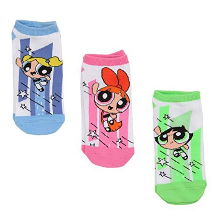 Powerpuff Girls Flying 3 Pair Lowcut socks