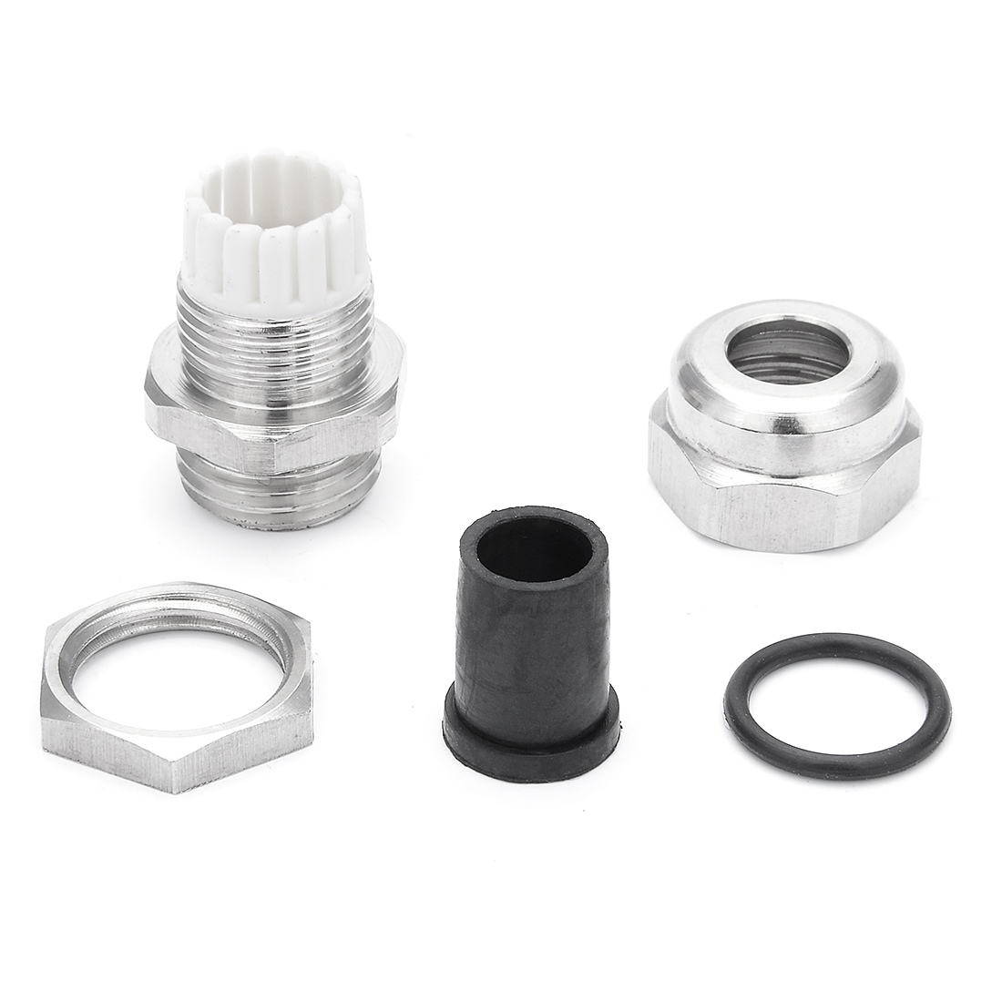 5PCS M16*1.5 Metal Waterproof Connector Fastener Locknut Stuffing Cable Gland