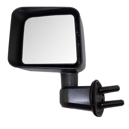 Drivers Manual Side View Mirror Textured Replacement for Jeep Wrangler 68081251AA