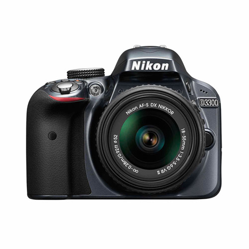 Nikon D3300 Digital SLR with 24.2 Megapixels and 18-55mm Lens Included