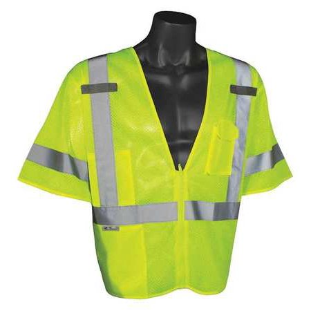36in Polyester (RADIANS SV3ZGM-4X/5X High Visibility Vest, 4XL/5XL, Green, 36in.)
