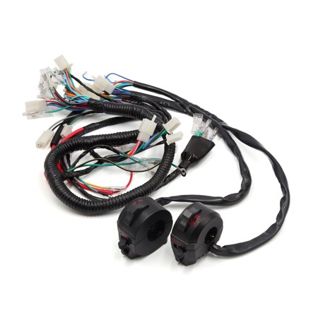 motorcycle electrical main wire harness w handlebar switch kit for cg125 -  walmart com