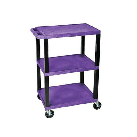 Walmart Utility Shelves Amazing H Wilson Tuffy 60Shelf Utility Cart Purple Shelves And Black Legs