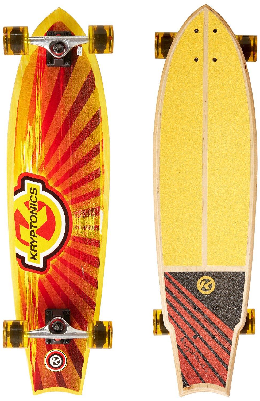 Kryptonics Cali Dream Swallowtial Longboard Complete Skateboard, 34 x 9-Inch by KRYPTONICS