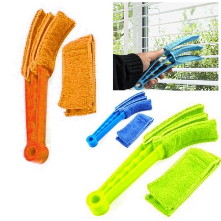 Microfiber Venetian Blind Blade Cleaner Window Conditioner Duster Brush (Microfiber Double Duster)
