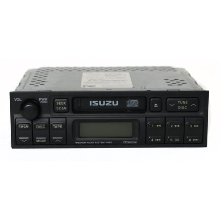 2000 Factory Radio - 2000 2001 2002 Isuzu Amigo AM FM Radio with Cassette Part Number 8-97256-491 - Refurbished
