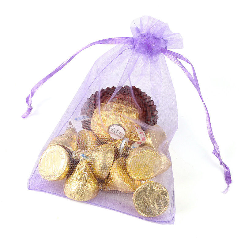Organza bags Big Hearts Jewellery Pouches for Wedding Christmas Gift Favours