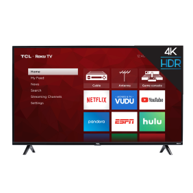 Tcl 50 Class 4k Uhd Led Roku Smart Tv 4 Series 50s421 Walmart Com Walmart Com