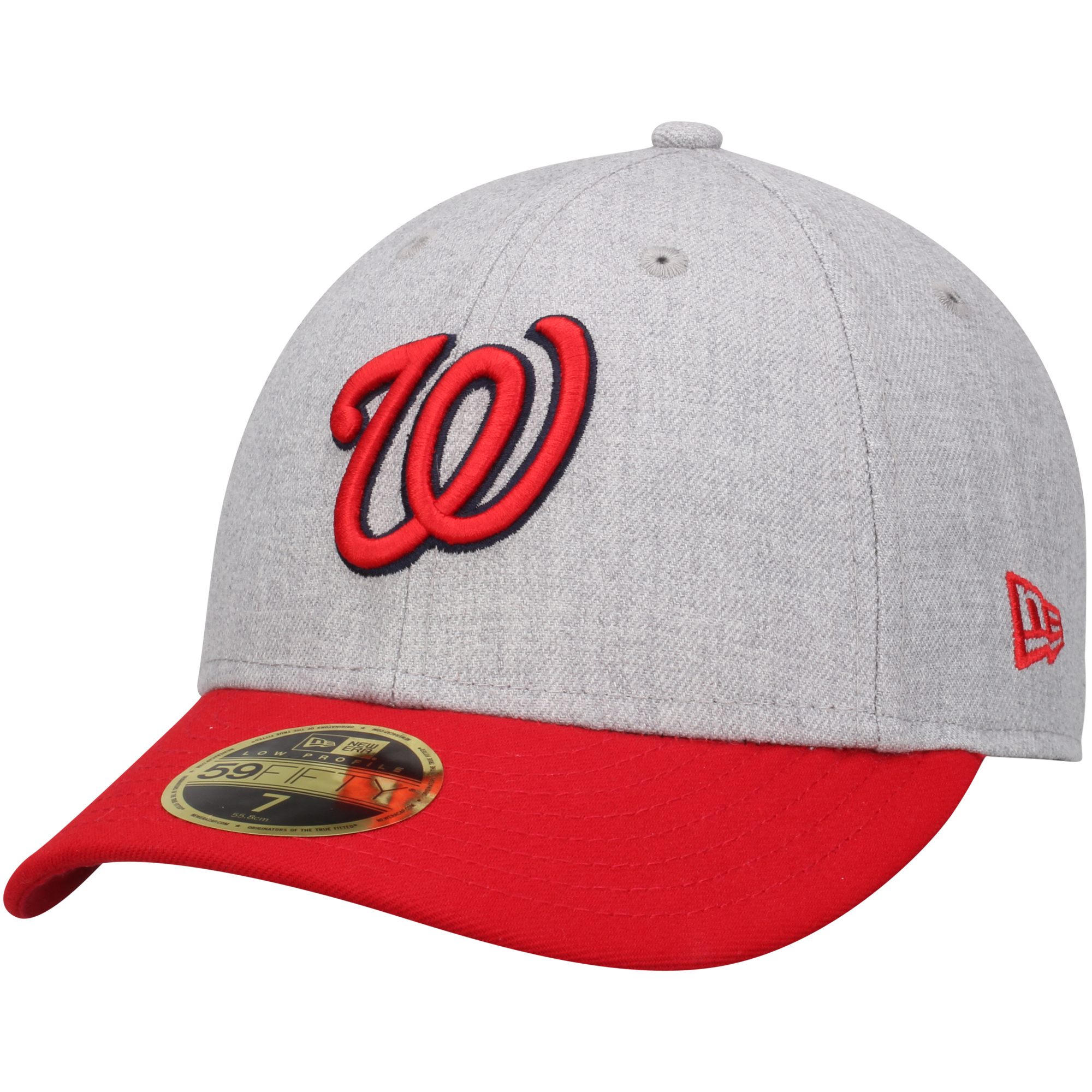 Washington Nationals New Era Change Up Low Profile 59FIFTY Fitted Hat - Heathered Gray/Red