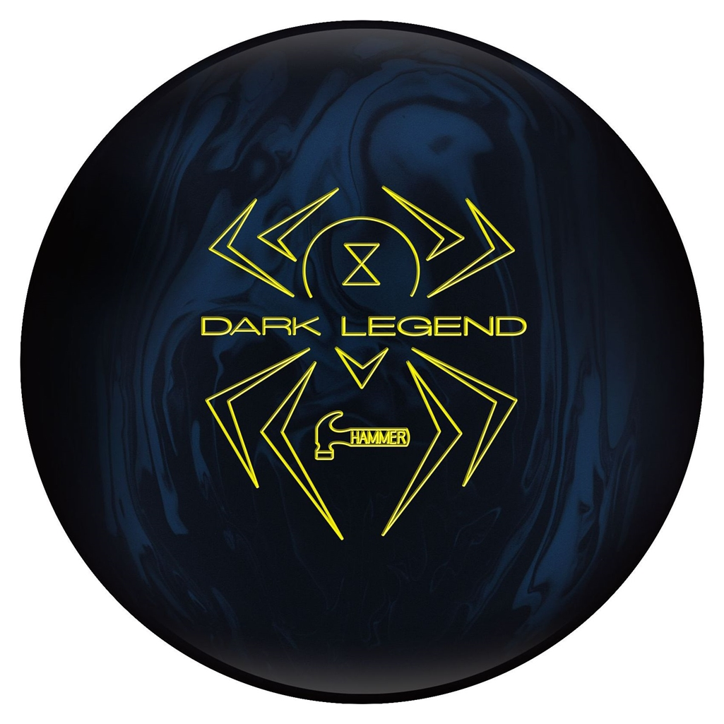 Hammer Dark Legend Solid Bowling Ball (15lbs) by Hammer Bowling Products