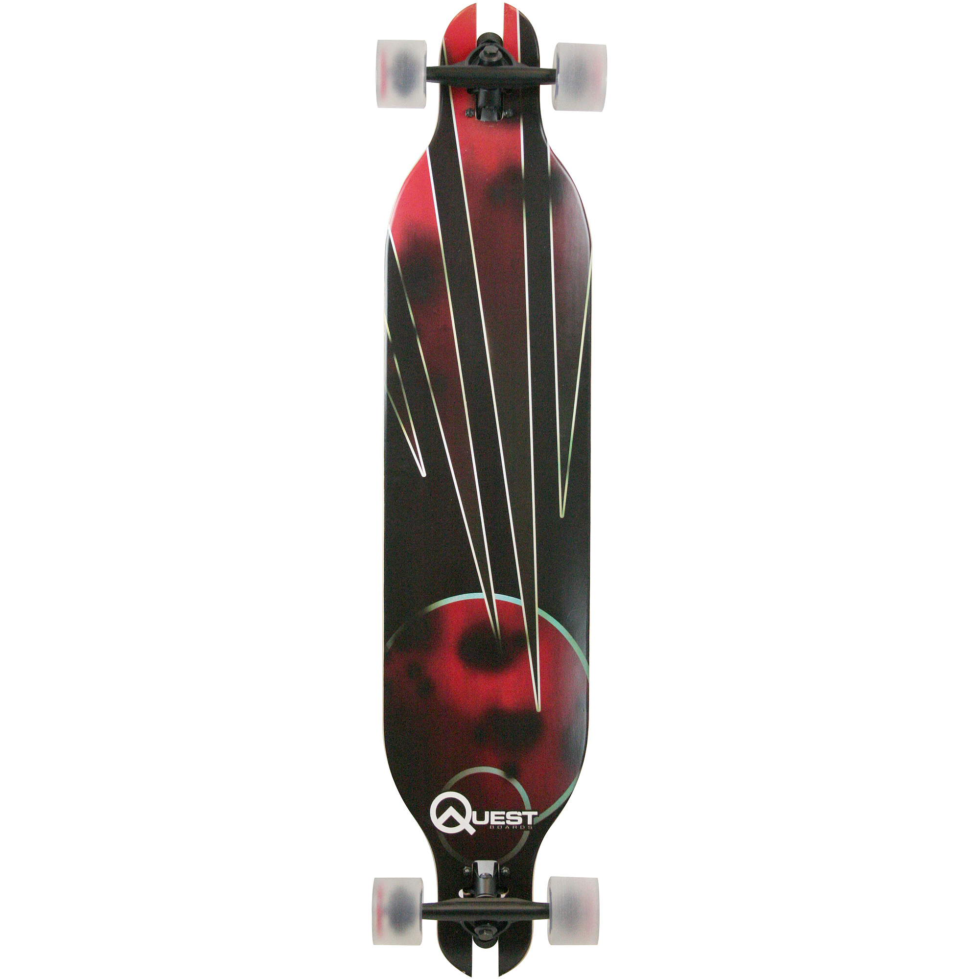 "Quest Mars Slot Through 41"" Longboard Skateboard"