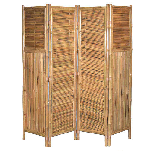 Bamboo54 71'' x 72'' Screen Middle Diagonal 4 Panel Room Divider