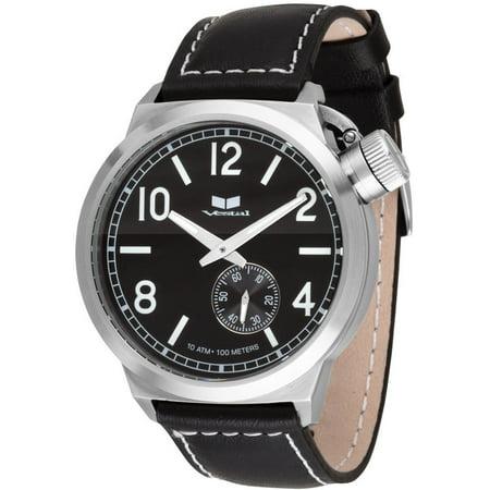 Vestal Men's Canteen CTN3L01 Black Leather Quartz Watch