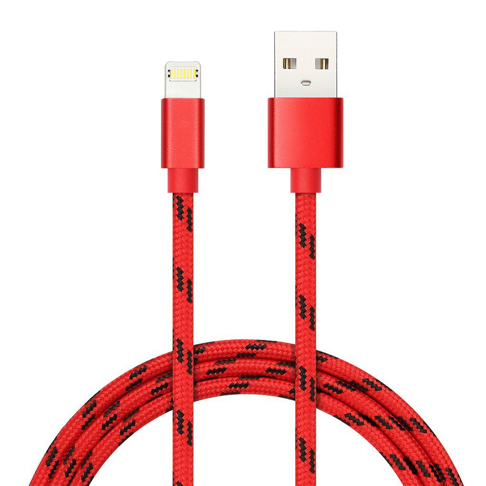 Nylon Braided 2in1 Micro USB Fast 2.4A Charging Sync Data Cable Compatiable most iOS Android Devices