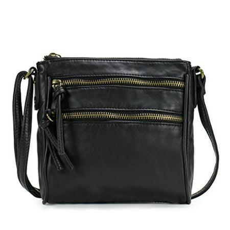 Scarleton Mini Trendy Front Dual Zipper Crossbody Bag H190701 - Black - image 1 de 1