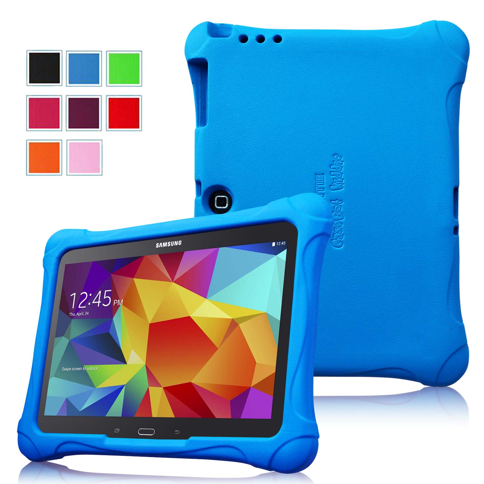Fintie Samsung Galaxy Tab 3 10.1 and Tab 4 10.1 inch Tablet Kiddie Case - Ultra Lightweight Shock Proof Cover, Blue