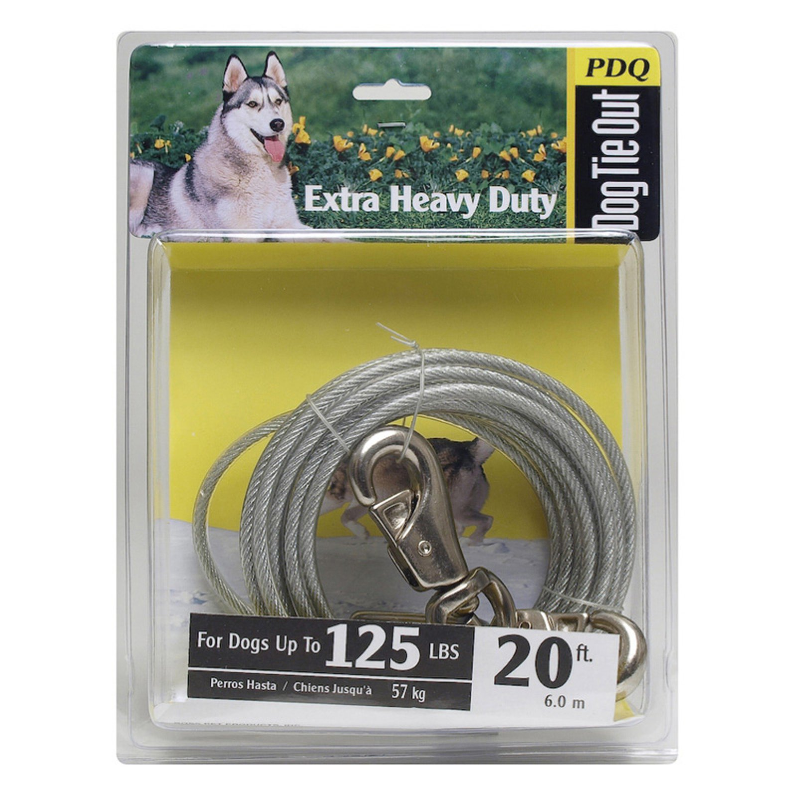 Boss Pet Q5720 SPG 99 20' Extra Large Dog PDQ Tie-Out with Spring
