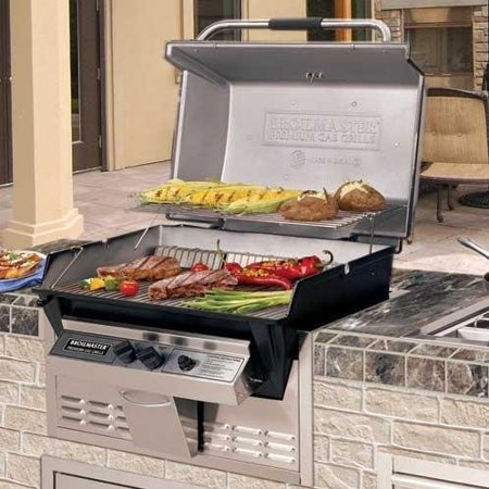 Combination Gas Grill - Broilmaster R3B Infrared Combination Propane Gas Grill Built In - R3B + BHA