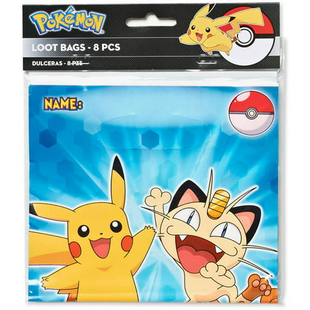 Pokemon Treat Bags 8 Count Party Supplies