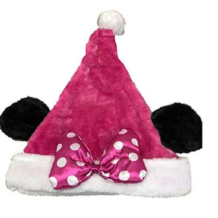271c6d9a4d687 Disney Mickey Mouse Minnie Mouse Plush Santa Hat with Ears Ho Ho Ho (Minnie  Pink) - Walmart.com
