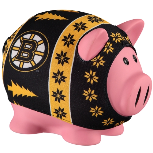 Boston Bruins Busy Block Sweater Pig Bank - No Size