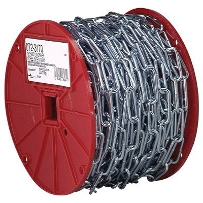 18340 2/0 Straight Linkcoil Chain Polycoated