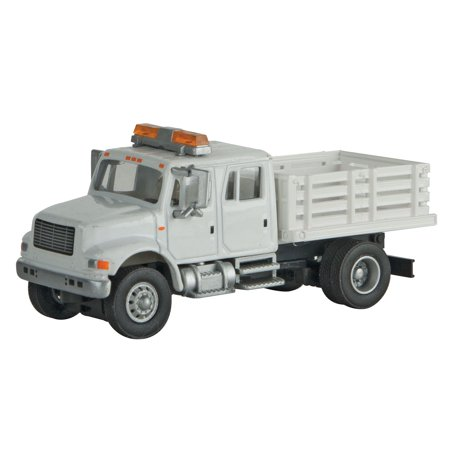 - Walthers HO Scale International 4900 Open Stake Bed Truck White Railroad MOW