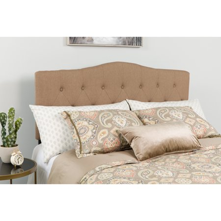 Flash Furniture Cambridge Tufted Upholstered Full Size Headboard in Camel
