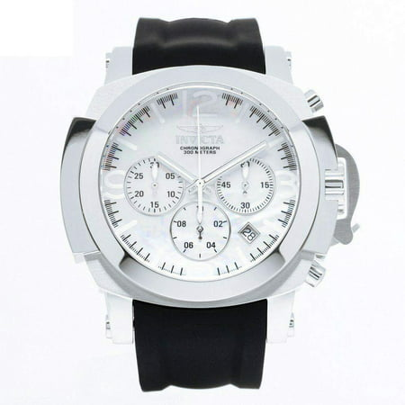 22275 Men's I-Force White MOP Dial Black Silicone Strap Chronograph Dive