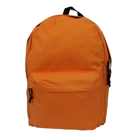 Classic Bookbag Basic Backpack Simple School Book Bag Casual Student Daily Daypack 18 Inch with Curved Shoulder Straps Orange - Pokemon Bookbag