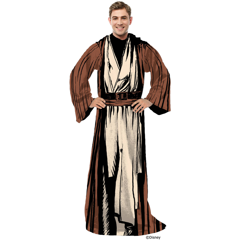 Jedi Dressing Gown New /& Official Disney Sith Star Wars Soft Fleece Bathrobe