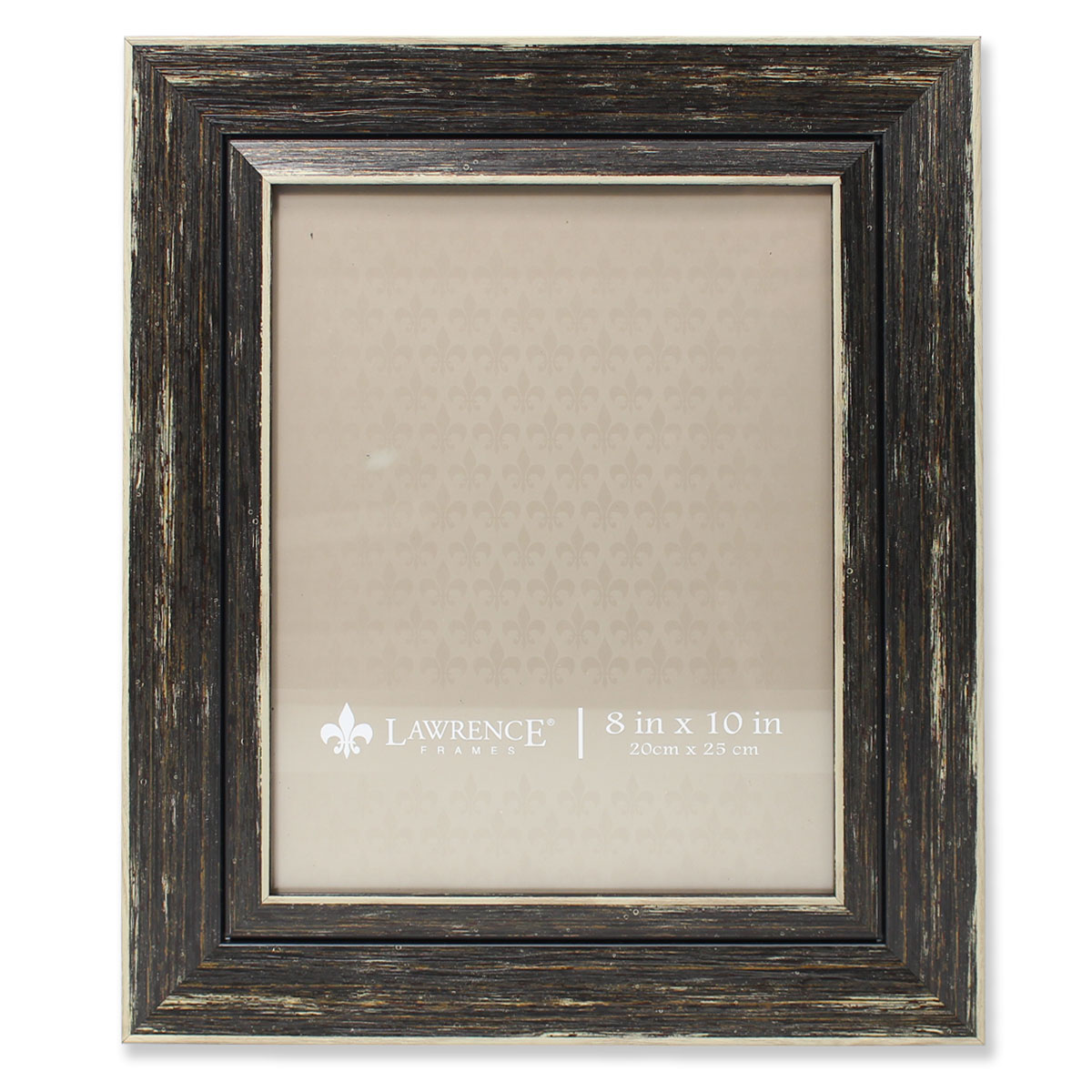 Click here to buy 8x10 Weathered Black Decorative Picture Frame by Lawrence Frames.
