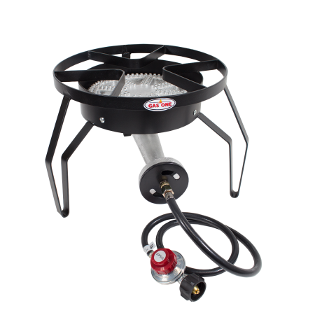 Gas One 200 000 Btu High Pressure Propane Single Banjo Burner Outdoor Round Cooker Camp Stove