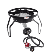 Gas One 200,000 BTU High Pressure Propane Single Banjo Burner Outdoor Round Cooker Camp Stove