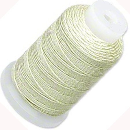 Silk Thread Collections (Simply Silk Thick Thread Cord Size FFF (0.016 Inch 0.42mm) Spool 92 Yards Compatible with Kumihimo Super Lon (Light Green) )