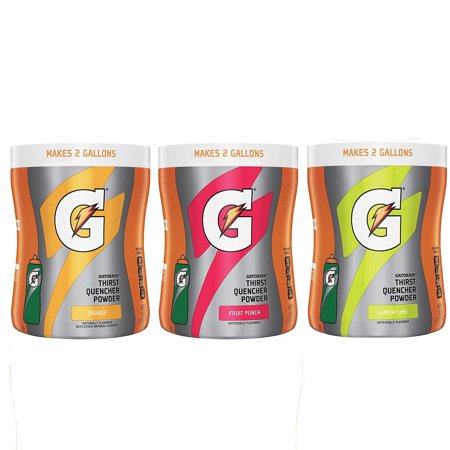 Gatorade Thirst Quencher Powder Variety Pack, 18.3 oz Canisters, 4 Count ()